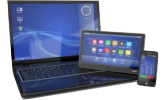 Laptop Picture, Smartphone and Tablet-PC - IT Service RS Solution